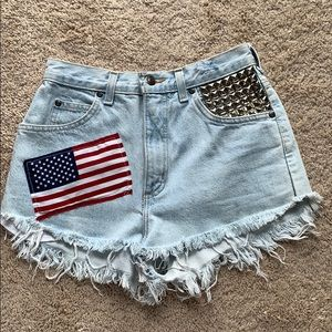 4th OF JULY Lands End Size 4 Jean Shorts